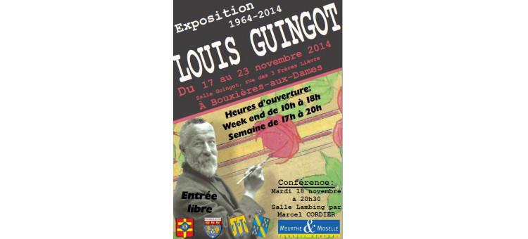 Exposition sur Louis Guingot – Du 17 au 23 novembre 2014