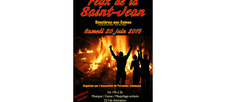 Feux de la Saint-Jean le samedi 20 juin 2015