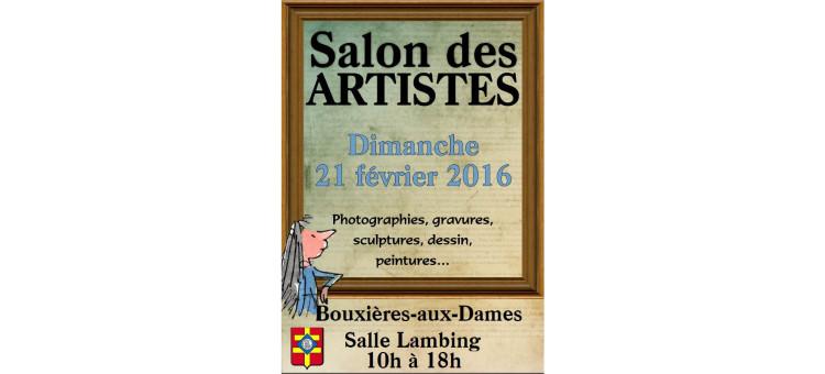 Salon des artistes – Salle Lambing – Dimanche 21 février 2016