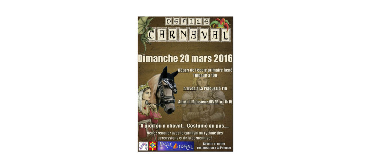 Défilé de Carnaval – 20 mars 2016