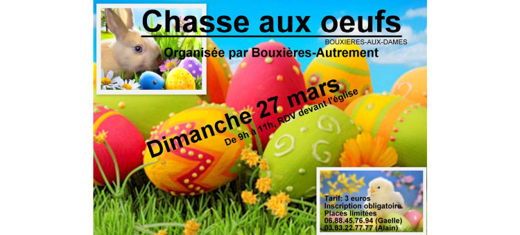 Chasse aux oeufs – 27 mars 2016