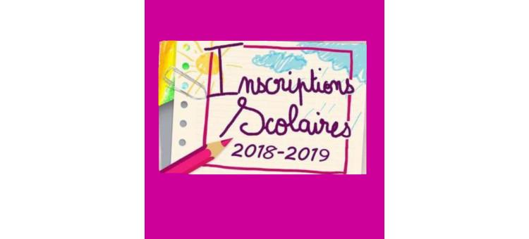 Inscriptions Scolaires – Rentrée 2018 / 2019