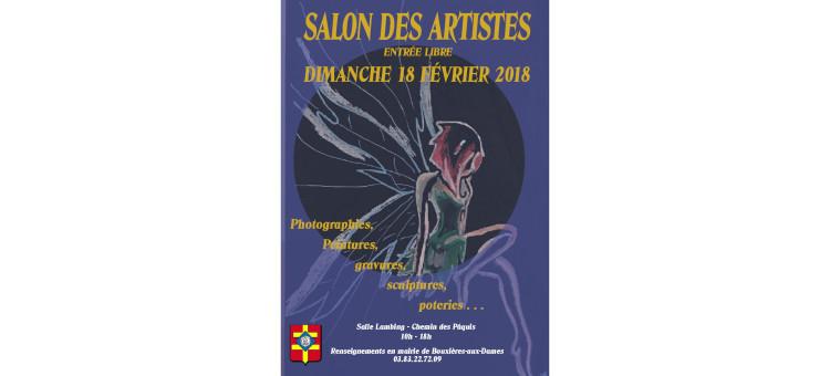 Salon des artistes – Dimanche 18 février 2018