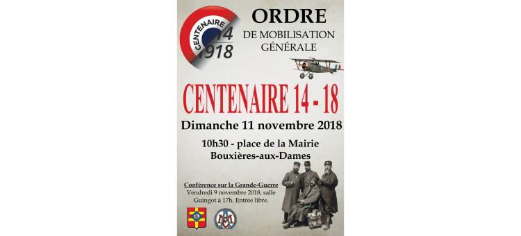 Commémoration de l'anniversaire de l'Armistice du 11 novembre 1918