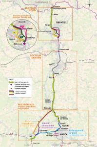 Carte générale du projet A31Bis soumis à la concertation