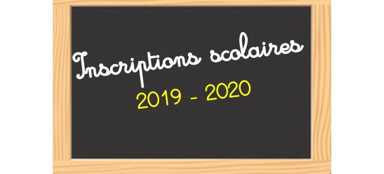 Inscriptions Scolaires – Rentrée 2019 / 2020